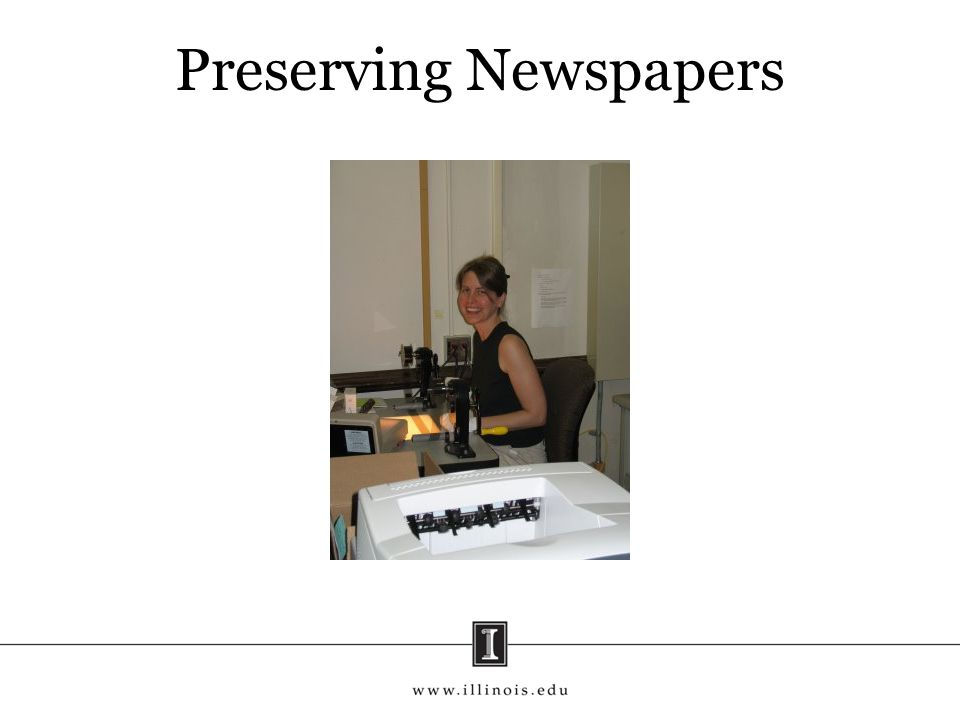 Preserving Newspapers