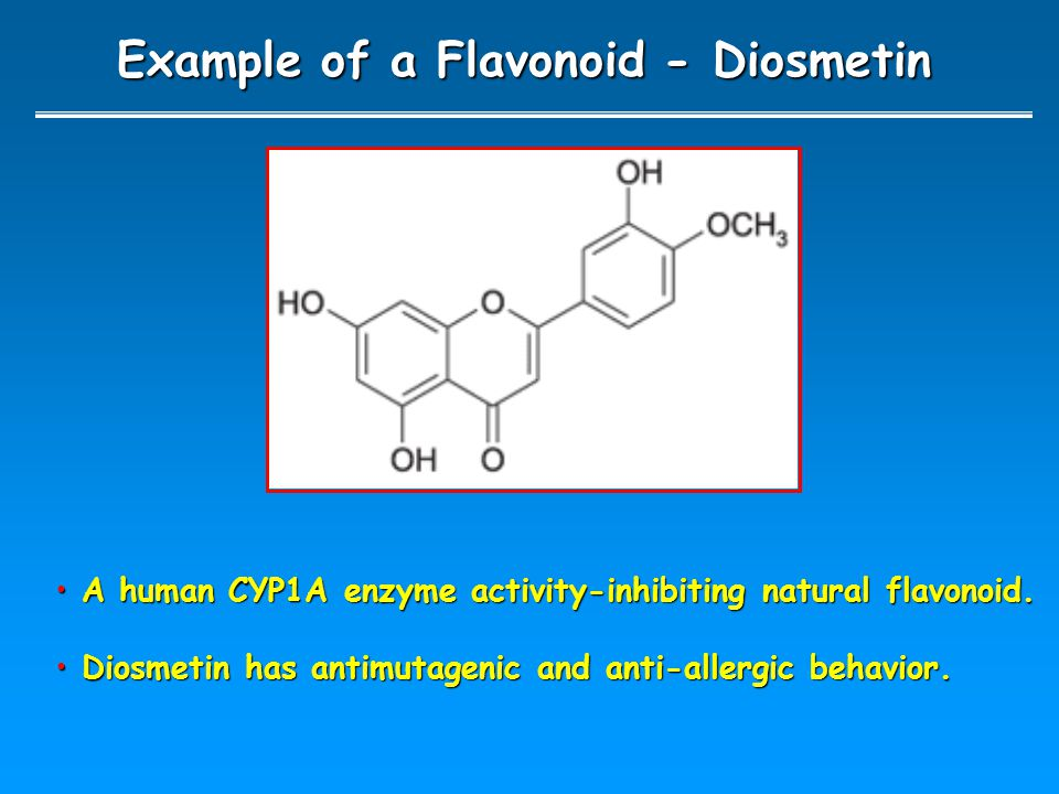 Example of a Flavonoid - Diosmetin A human CYP1A enzyme activity-inhibiting natural flavonoid.