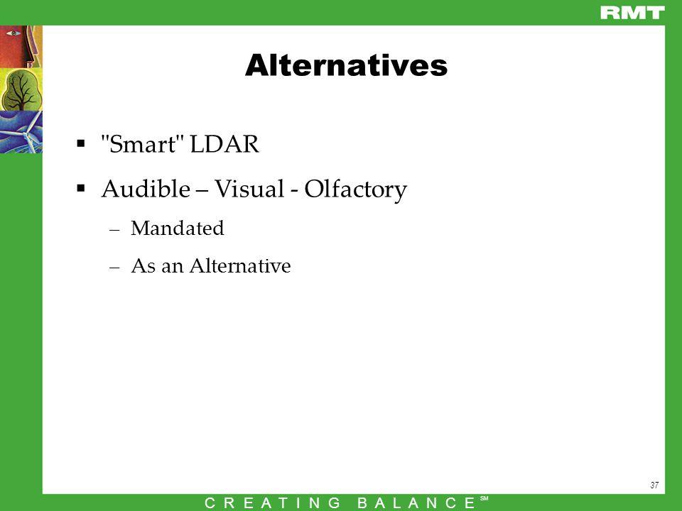 37 C R E A T I N G B A L A N C E SM Alternatives 