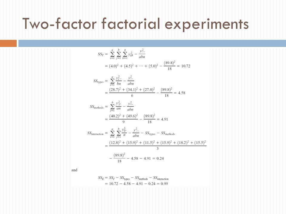 Two-factor factorial experiments