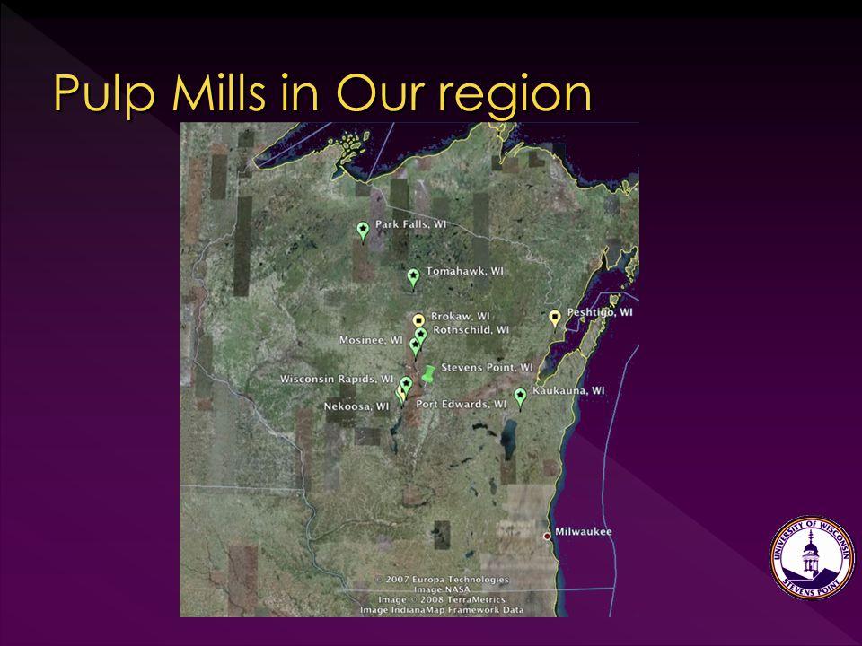 Pulp Mills in Our region