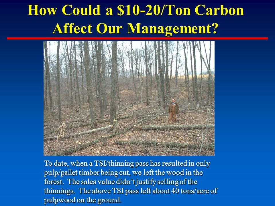 How Could a $10-20/Ton Carbon Affect Our Management.
