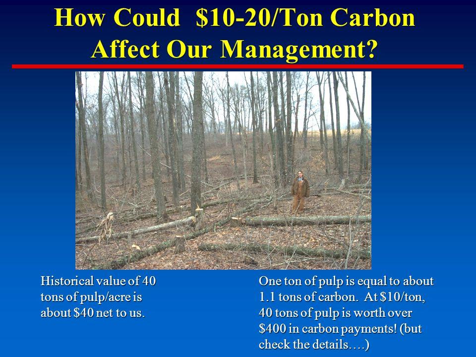 How Could $10-20/Ton Carbon Affect Our Management.