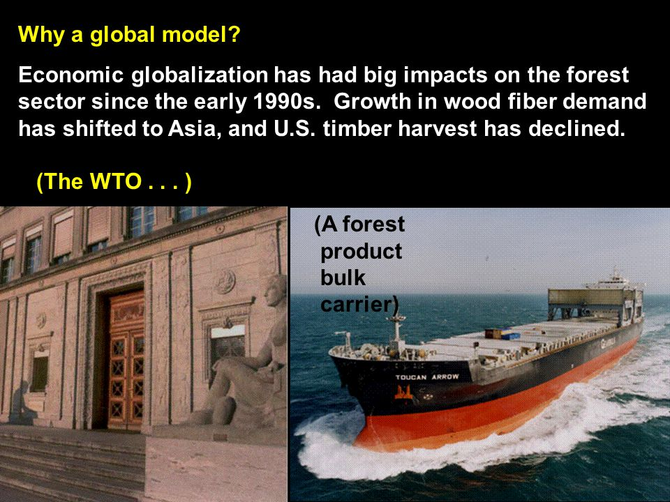 In USFPM/GFPM, we can introduce future cost assumptions for wood biofuels such as cellulosic ethanol Source: Dr.