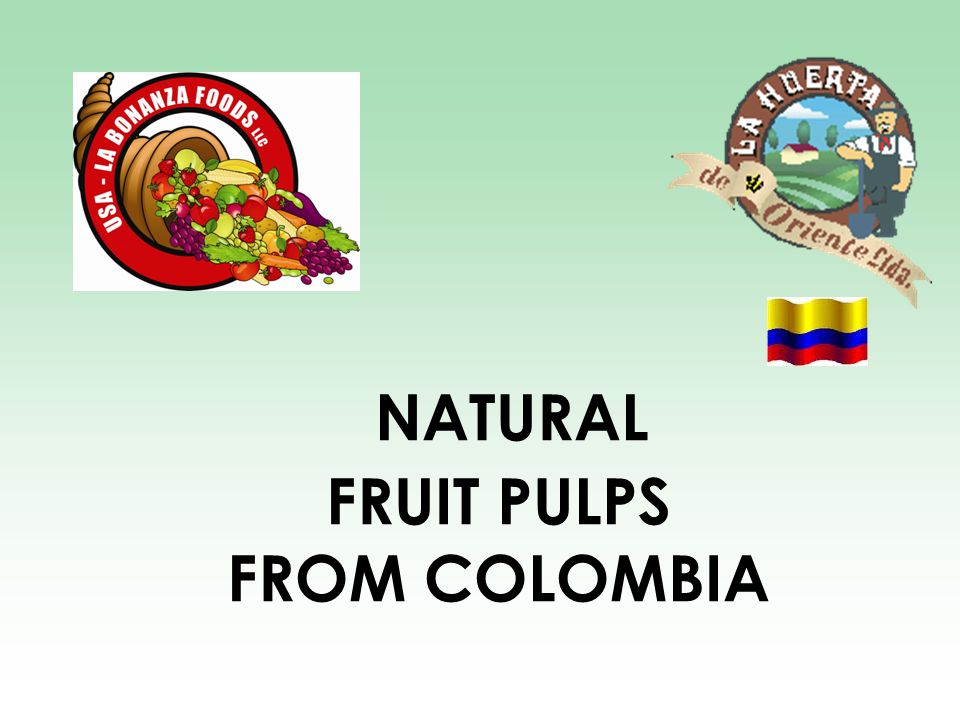 NATURAL FRUIT PULPS FROM COLOMBIA