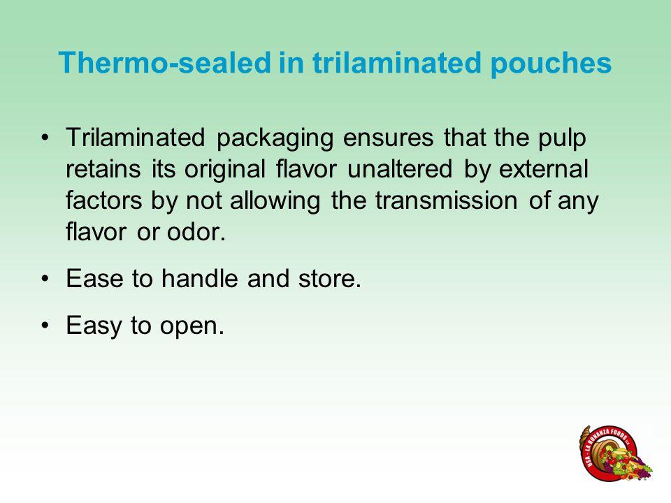 Product Availability Individual 250 g pouches (40 per case - single flavor) Combo Pack A (8 combo packs per case - 5 flavors) Passion Fruit, Mango, Guava, Curuba & Blackberry Combo Pack B (8 combo packs per case - 5 flavors) Passion Fruit, Mango, Guava, Tamarillo and Lulo 1 pallet has 81 cases: 3,240 individual pouches (81 x 40) 648 combo packs (81 x 8)