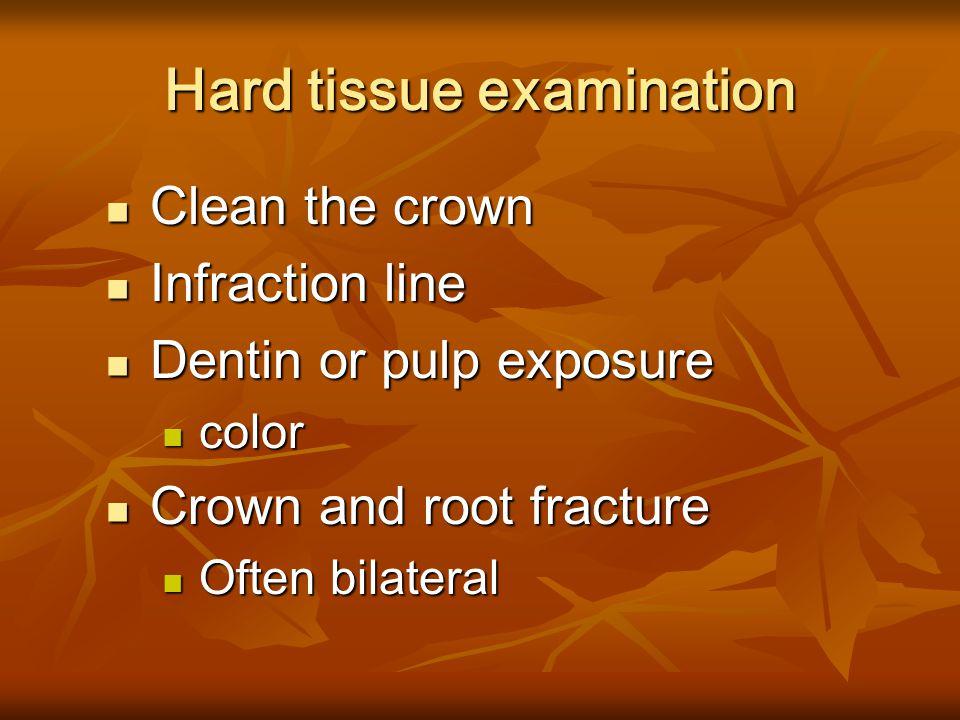 Soft tissue examination Submucosal hematoma