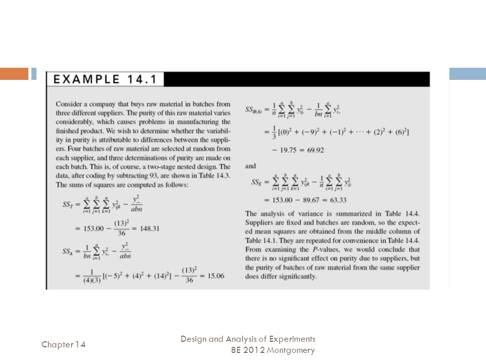 Chapter 14 Design and Analysis of Experiments 8E 2012 Montgomery 9