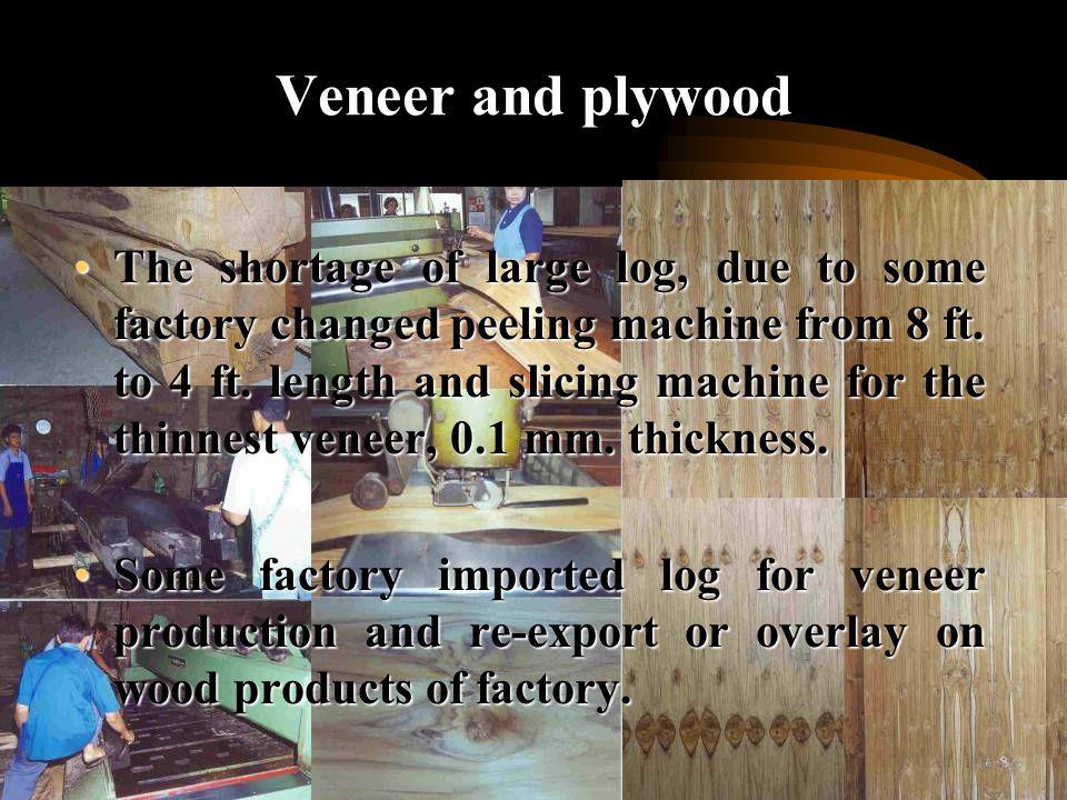 Wood-based panels - Veneer and plywood- Veneer and plywood - Composite board- Composite board - Fiberboard- Fiberboard - Particleboard- Particleboard - Wood cement board- Wood cement board