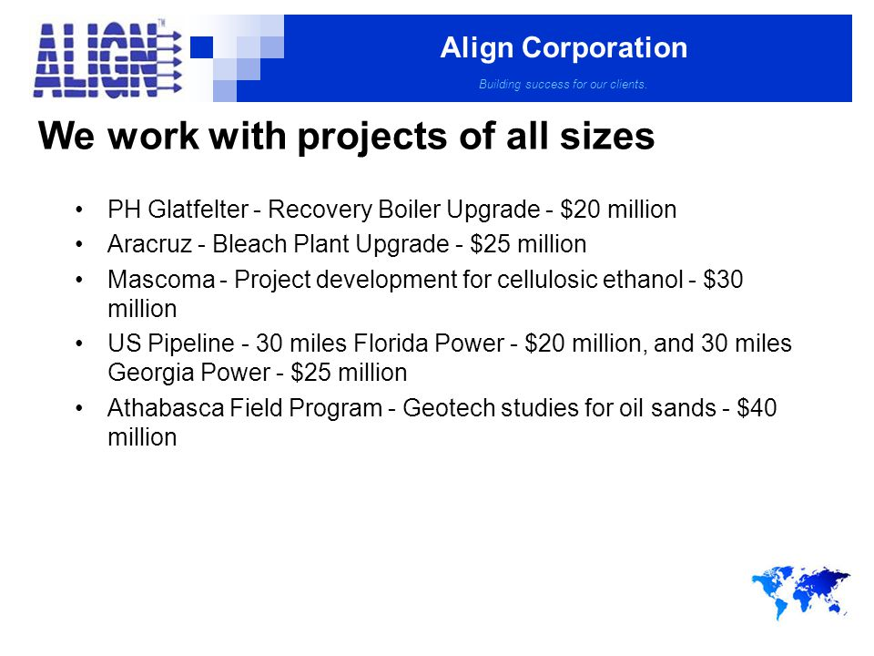 Align Corporation Building success for our clients.