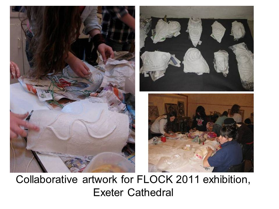 Collaborative artwork for FLOCK 2011 exhibition, Exeter Cathedral