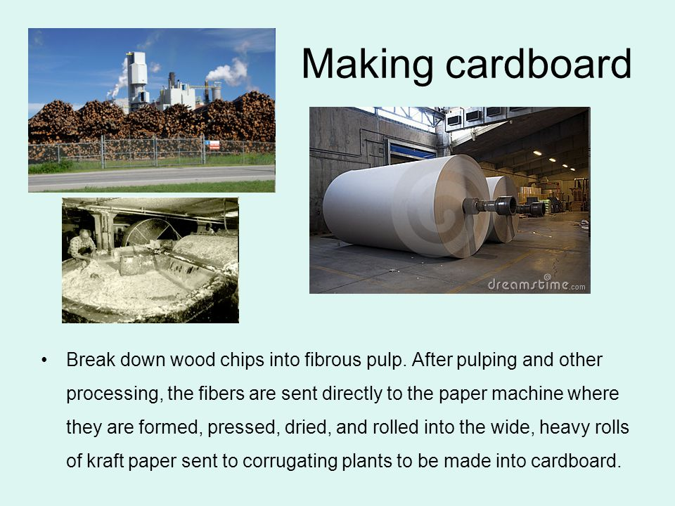 At the corrugating plant, only a few other raw materials are needed to make a finished box.