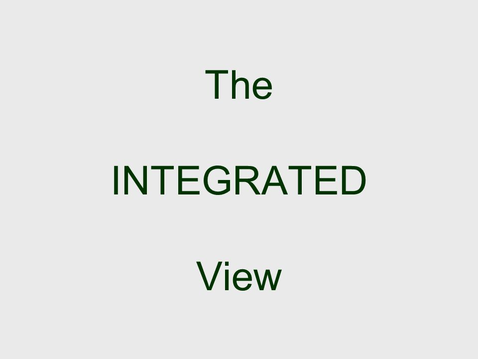 The INTEGRATED View