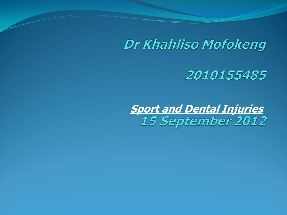 Sport and Dental Injuries
