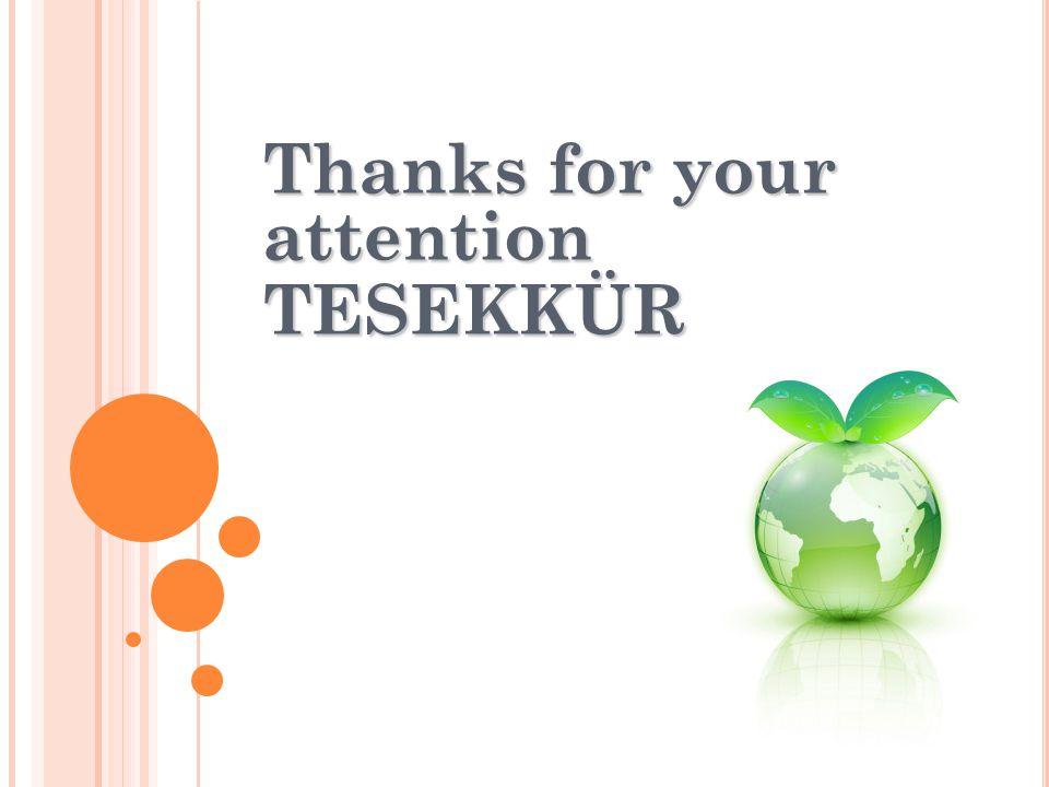 Thanks for your attention TESEKKÜR