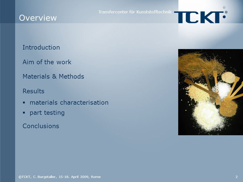 Transfercenter für Kunststofftechnik ©TCKT, C.Burgstaller, 15-18.