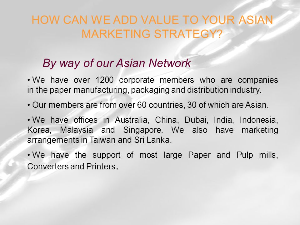 HOW CAN WE ADD VALUE TO YOUR ASIAN MARKETING STRATEGY.