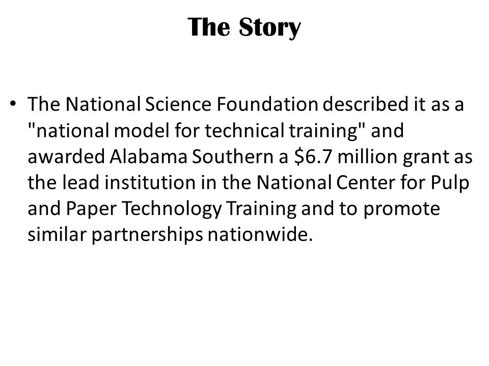 The Roadmap For Success Creating the Vision to meet a Need Securing Partners The NSF Grant Proposal Timing and Luck