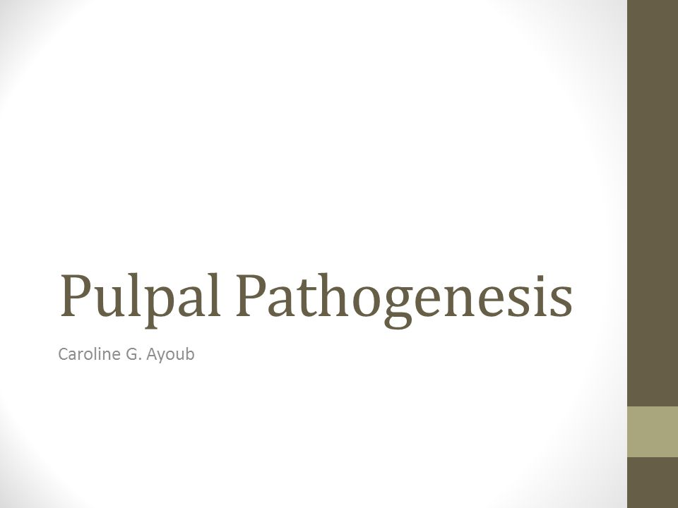 Pulpal Pathogenesis Caroline G. Ayoub