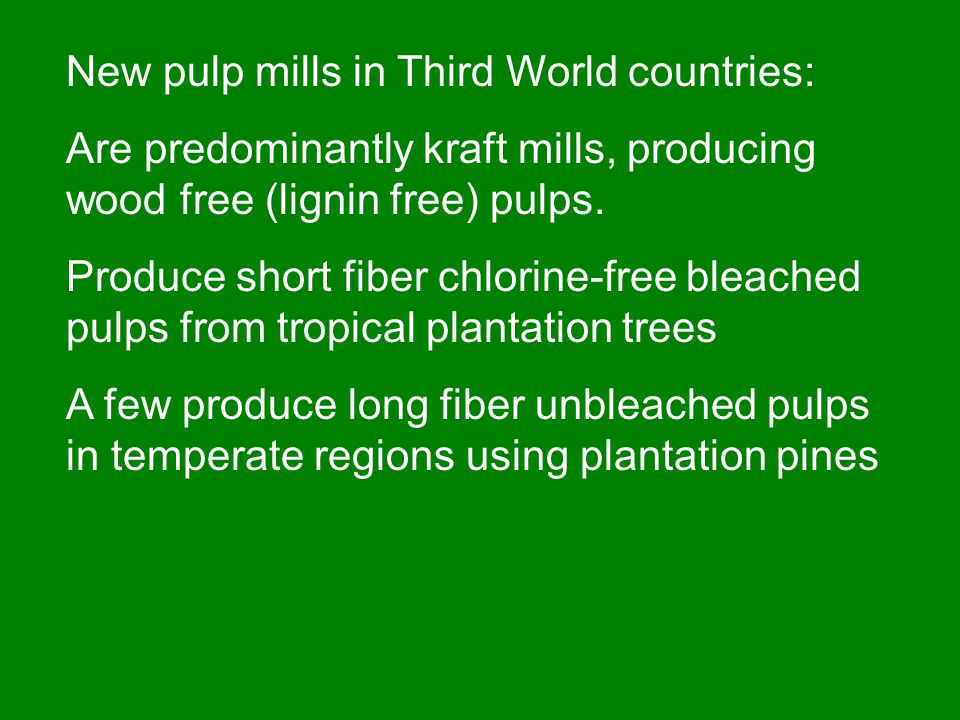 PULP PRODUCTION BY COUNTRY Other countries