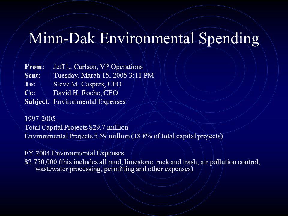 Minn-Dak Environmental Spending From:Jeff L.