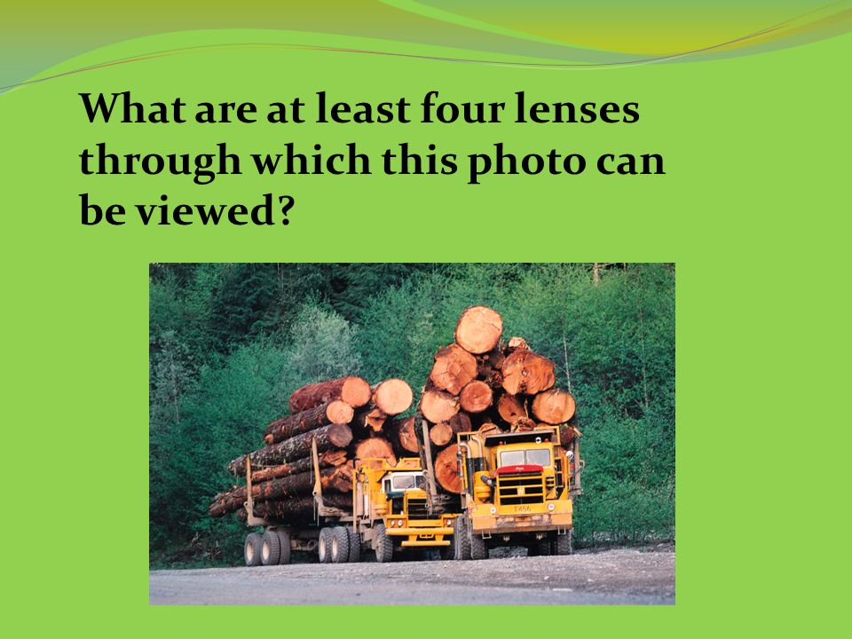 What are at least four lenses through which this photo can be viewed