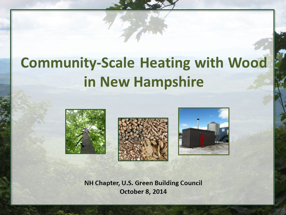 Background The New Hampshire Wood Energy Council is a not-for-profit partnership that provides professional guidance to support growth in commercial and institutional heating with wood.