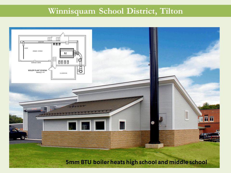 Winnisquam School District, Tilton 5mm BTU boiler heats high school and middle school