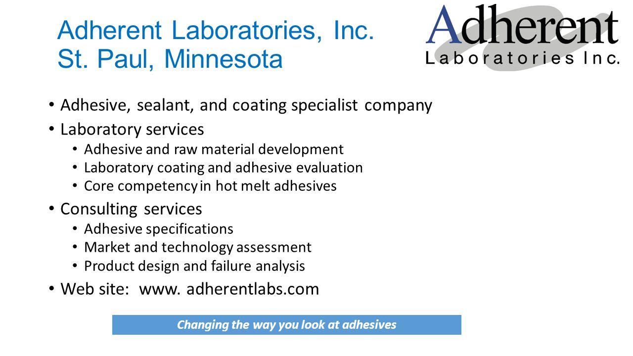 Adherent Laboratories, Inc. St.