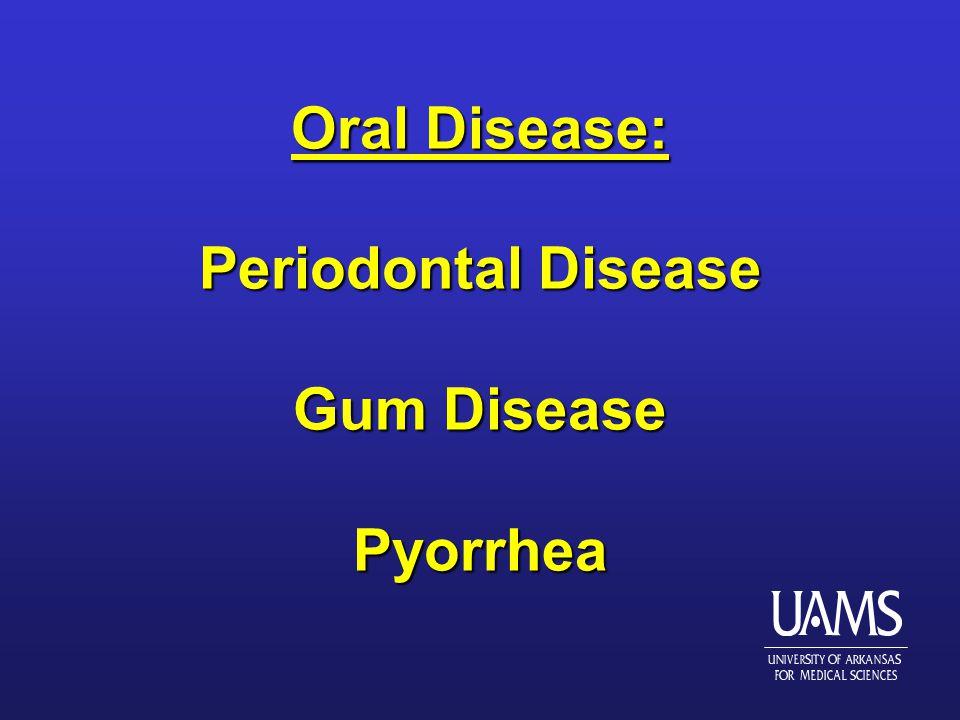 Oral Disease: Periodontal Disease Gum Disease Pyorrhea