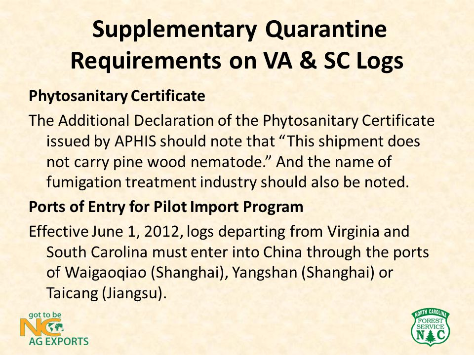 "Phytosanitary Certificate The Additional Declaration of the Phytosanitary Certificate issued by APHIS should note that ""This shipment does not carry p"