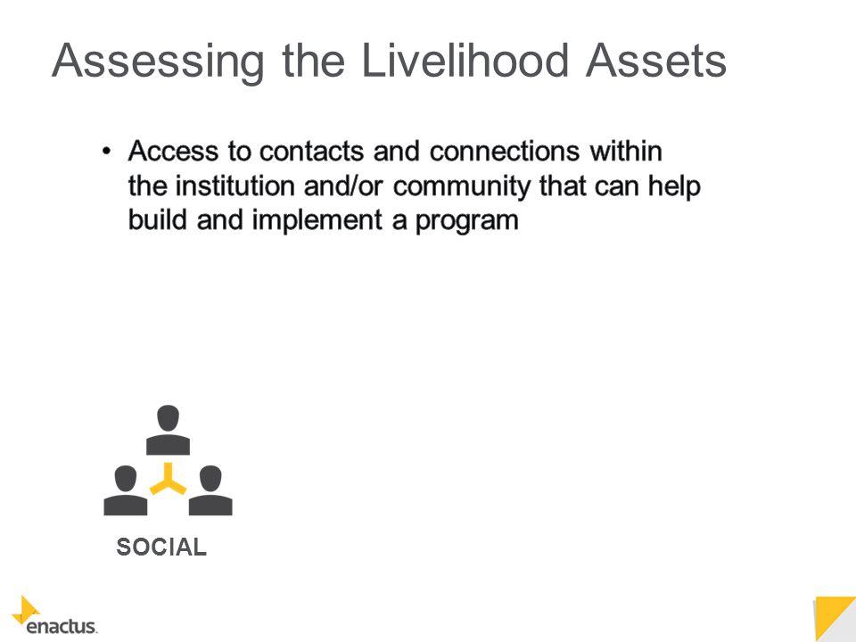 SOCIAL Assessing the Livelihood Assets