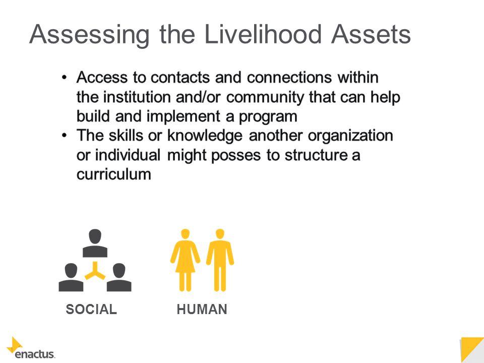 SOCIALHUMAN Assessing the Livelihood Assets