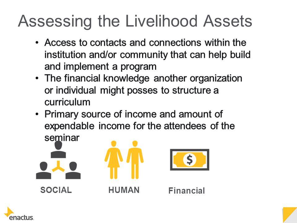 SOCIALHUMAN Financial Assessing the Livelihood Assets