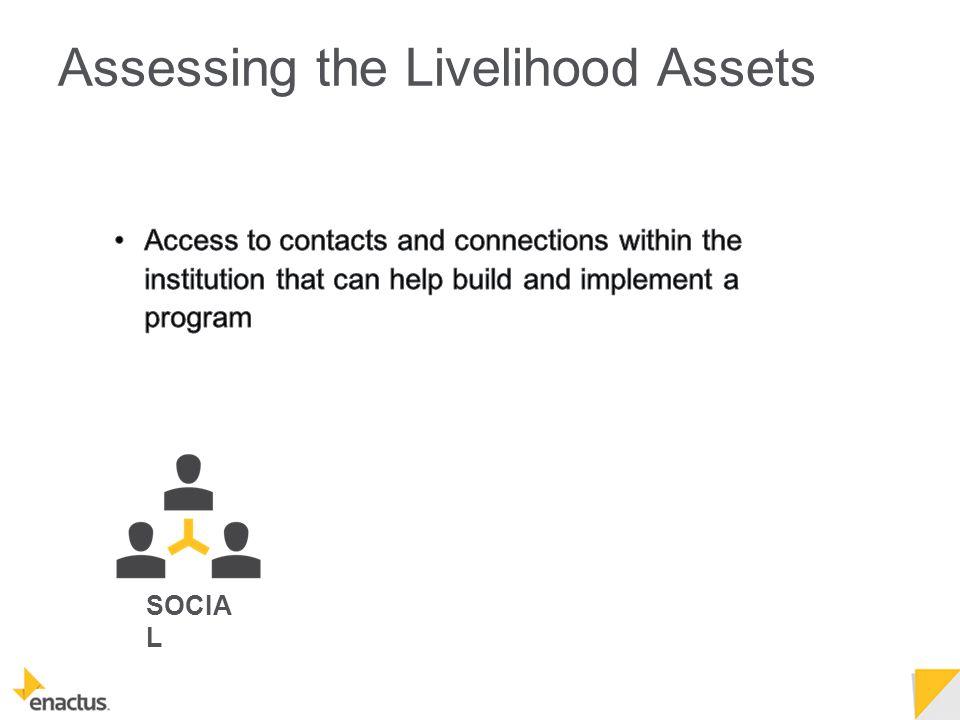 SOCIA L Assessing the Livelihood Assets