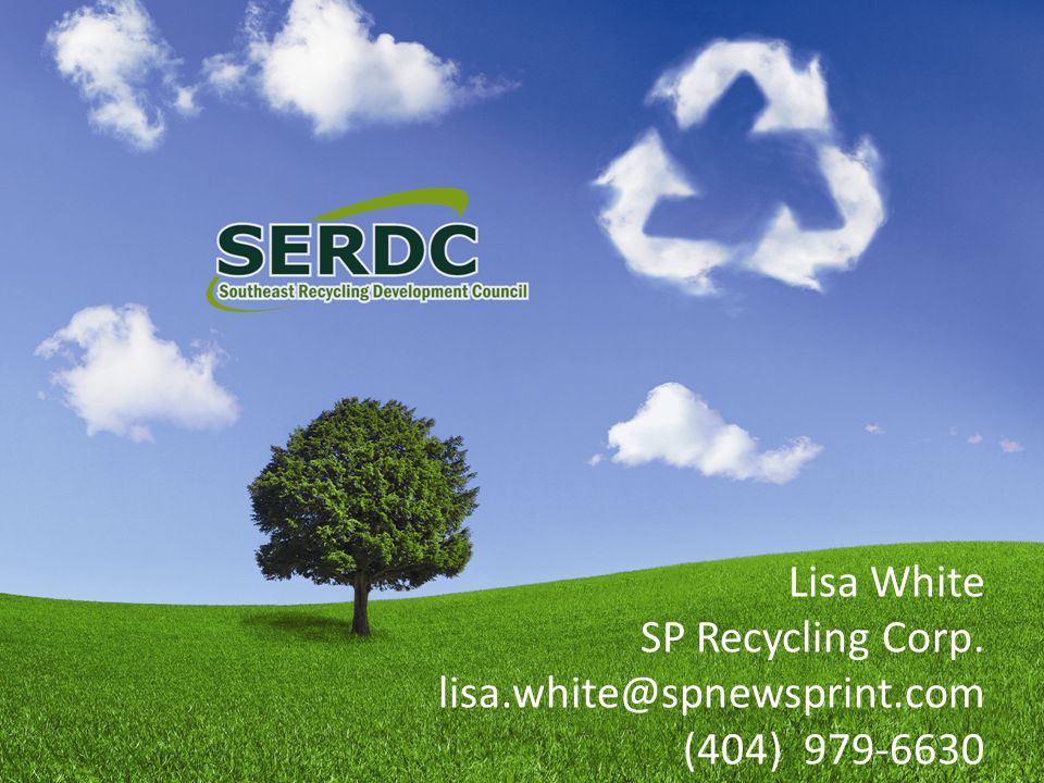 Lisa White SP Recycling Corp. lisa.white@spnewsprint.com (404) 979-6630