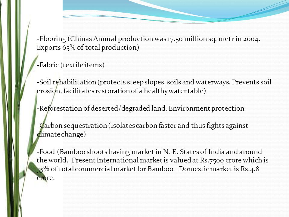 -Flooring (Chinas Annual production was 17.50 million sq.