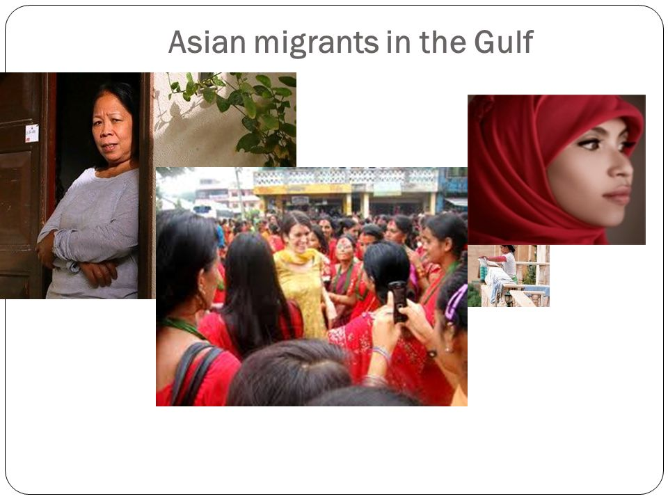 Asian migrants in the Gulf