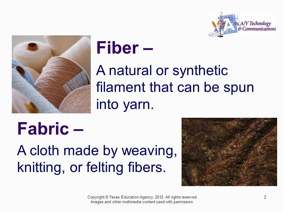 Knit Fabric – Copyright © Texas Education Agency, 2012.