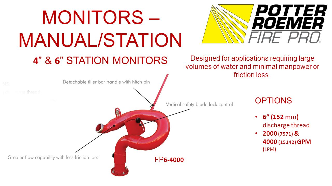 MONITORS – REMOTE CONTROL ELECTRIC NOZZLES For use with electronically-controlled monitors.