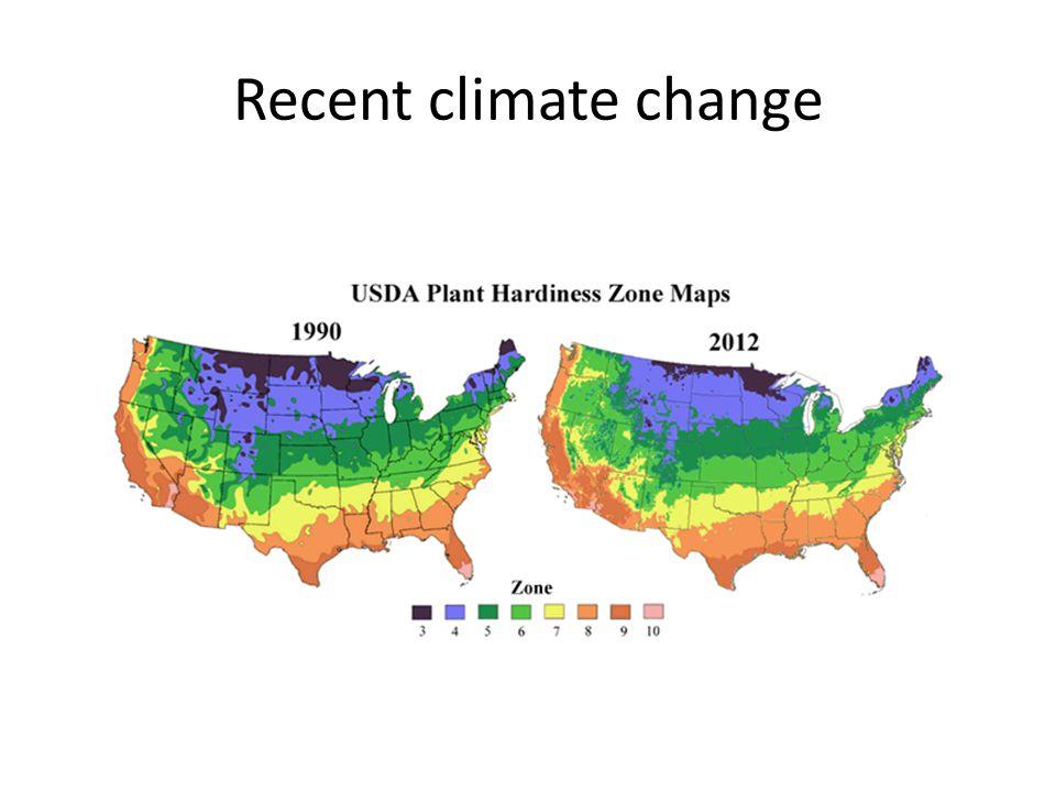 Recent climate change