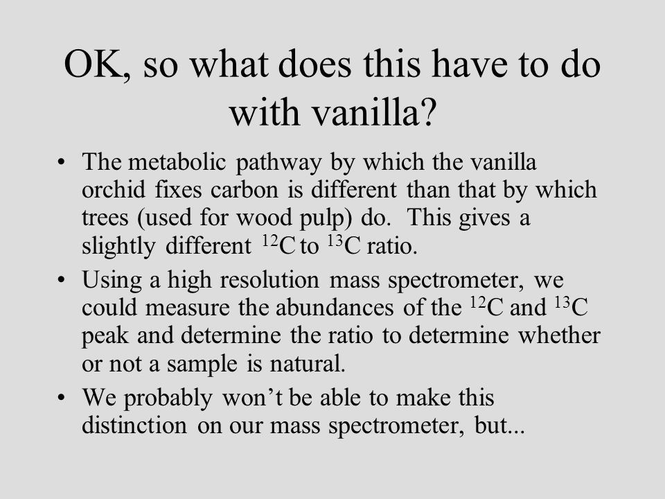 OK, so what does this have to do with vanilla.