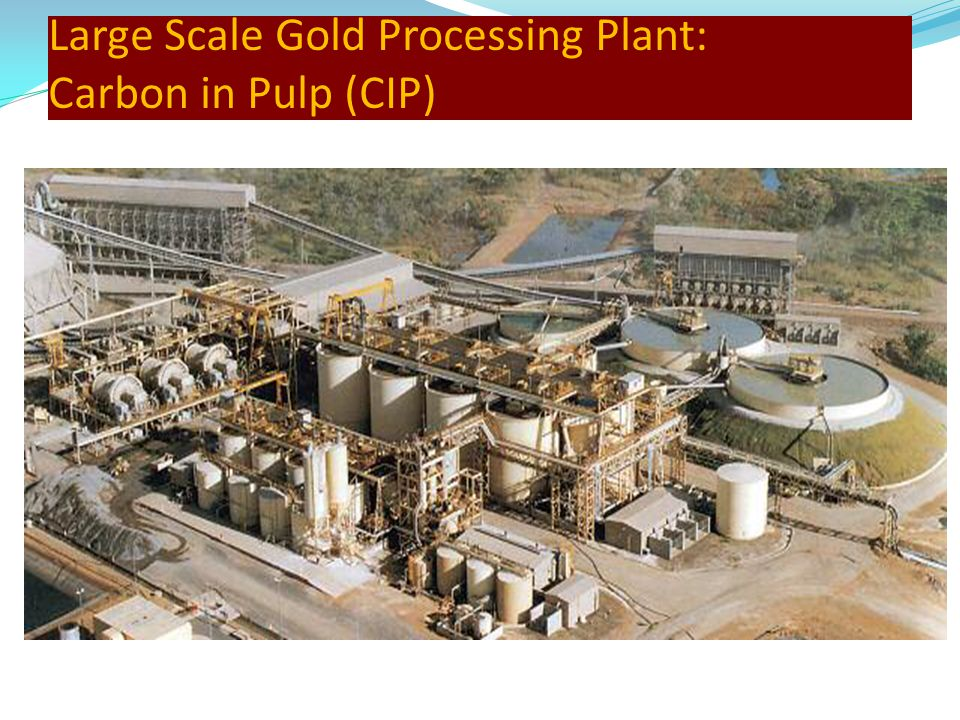 Large Scale Gold Processing Plant: Carbon in Pulp (CIP)