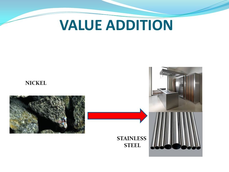 VALUE ADDITION NICKEL STAINLESS STEEL