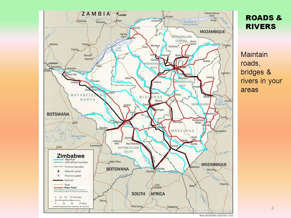ROADS AND RIVERS 4 ROADS & RIVERS Maintain roads, bridges & rivers in your areas