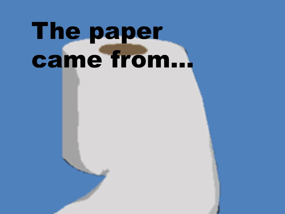 The paper came from…