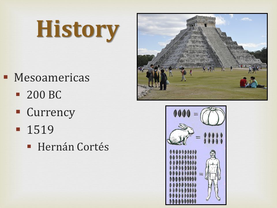  Mesoamericas  200 BC  Currency  1519  Hernán Cortés History
