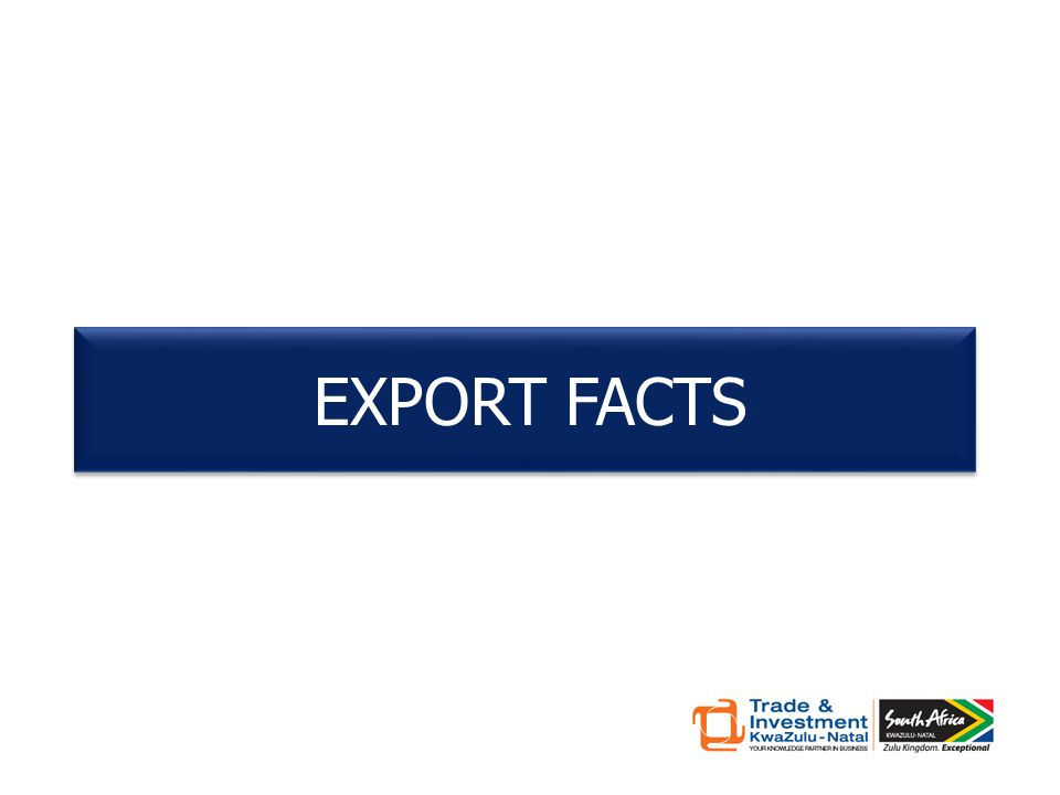 EXPORT FACTS