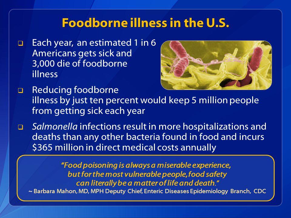 Foodborne illness in the U.S.