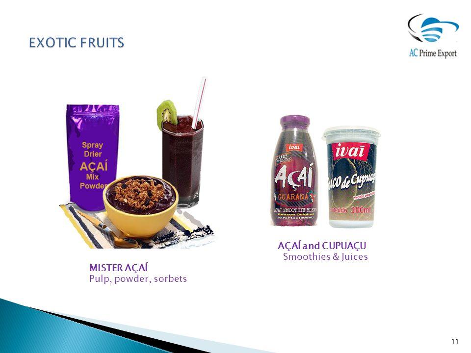 MISTER AÇAÍ Pulp, powder, sorbets AÇAÍ and CUPUAÇU Smoothies & Juices 11